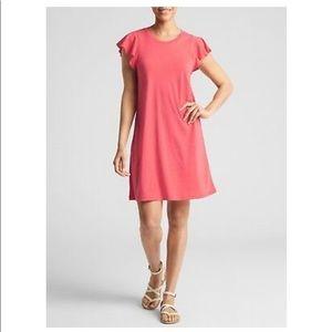 Gap Coral Flutter Sleeve Swing dress, Large